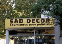 A furniture store in France